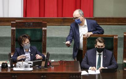 Marszałek Sejmu Elżbieta Witek (PiS) i wicemarszałek Włodzimierz Czarzasty (Lewica)