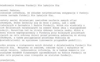 Oświadczenie Marka Lisińskiego