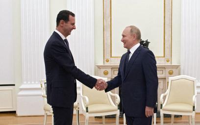 Prezydenci Syrii i Rosjii, Baszar el-Asad i Władimir Putin, podczas spotkania na Kremlu