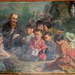 Święty Maksymilian Maria Kolbe z japońskimi dziećmi – obraz z muzeum w Niepokalanowie