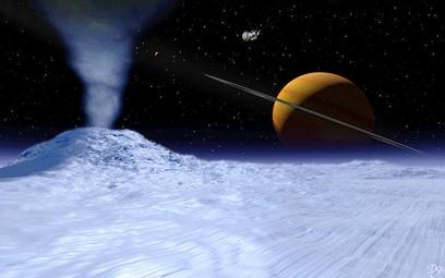 Wizualizacja powierzchni księżyca Saturna