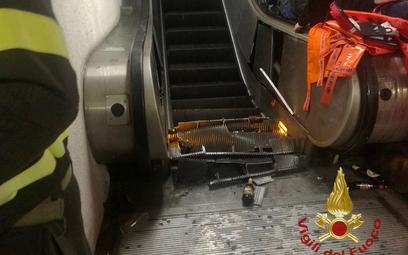 Zawaliły się schody na stacji metra w Rzymie. Kibice w szpitalu