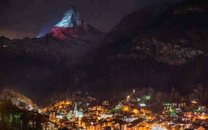 Polska flaga na Matterhornie