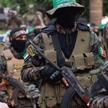 Gaza 22 maja. Członkowie zbrojnego skrzydła Hamasu, Brygady Al-Kasama, uczestniczą wmarszu ku czci
