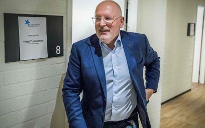 Frans Timmermans jest kandydatem socjalistów na nowego szefa Komisji Europejskiej