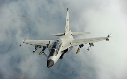 Demonstrator lekkiego samolotu bojowego M-346FA. Fot./Leonardo.