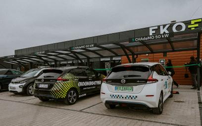 Pierwsza w Polsce stacja dla samochodów elektrycznych