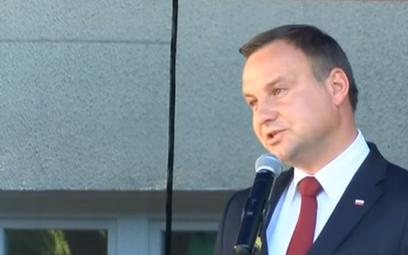 Przemówienie Andrzeja Dudy. Prezydent z trudem powstrzymał łzy