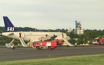 Gdańsk: Awaryjne lądowanie samolotu SAS