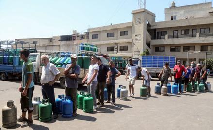 Kolejka po gaz w Bejrucie