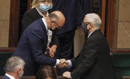 Senat odrzucił kandydaturę Piotra Wawrzyka (z lewej), wiceministra spraw zagranicznych