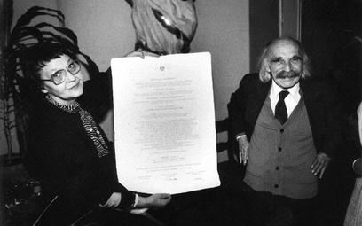 Przyznanie doktoratu honoris causa Uniwersytetu Wrocławskiego, rok 1989. Fot. Marek Ostrowski