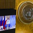 Rodrigo Duterte przemawia na forum ZO ONZ
