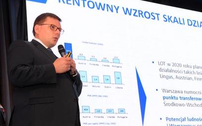 Prezes Rafał Milczarski ogłosił w Krynicy nową strategię LOT