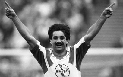 Marek Leśniak w sezonie 1989/1990 był najlepszym strzelcem Bayeru Leverkusen.