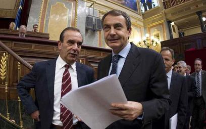 Premier Hiszpanii Jose Luis Rodriguez Zapatero na dzisiejszej sesji parlamentu