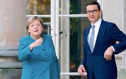 Kanclerz Angela Merkel z premierem Mateuszem Morawieckim podczas ostatniej wizyty w Warszawie 11 wrz