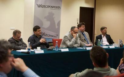 Od lewej: Piotr Zaremba, Robert Krasowski, Paweł Lisicki, Piotr Semka, Paweł Wroński