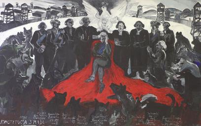 """Edward Dwurnik """"Konstytucja 3 Maja"""", 1989 Kolekcja Katarzyna i Wojciech Szafrańscy, depozyt Muzeum N"""