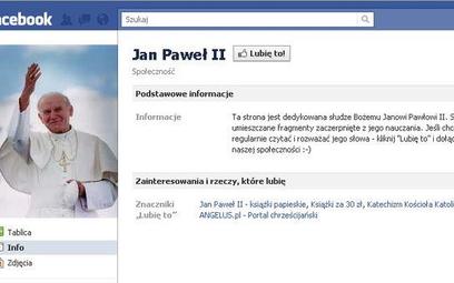 """Ponad 2 tysiące osób zarejestrowały się na profilu """"Jan Paweł II"""""""