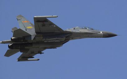 Cieśnina Tajwańska: Chińskie myśliwce po tajwańskiej stronie