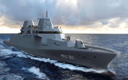 Wizja fregaty rakietowej typu MKS180 dla Deutsche Marine. Rys./Ministerstwo Obrony Niemiec.