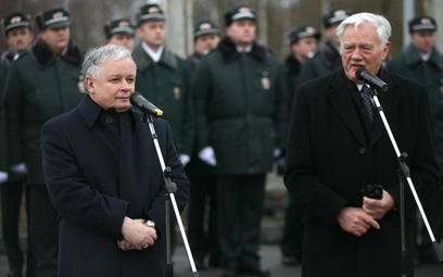 Uroczystośc oficjalnego zniesienia granicy polsko-litewskiej (21 grudnia 2007). Na zdjęciu prezydent
