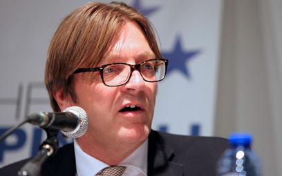 Guy Verhofstadt, przewodniczący Porozumienia Liberałów i Demokratów na rzecz Europy w PE