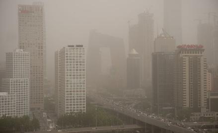 Chiński smog nad Pekinem