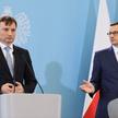 Prezes Rady Ministrów Mateusz Morawiecki i minister sprawiedliwości Zbigniew Ziobro
