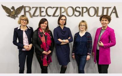 Od lewej: Aneta Piątkowska, Magdalena Raczek -Kołodyńska, Izabela Opałczyńska, prof. Maria Aluchna,