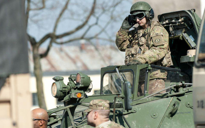 Amerykański konwój wjechał do Polski z Litwy
