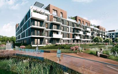 Osiedle Ceglana Park budowane przez Develię w Katowicach. Pierwszy etap inwestycji jest gotowy