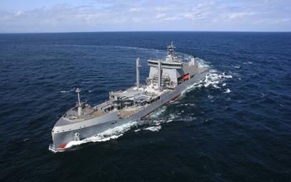 Wielozadaniowy okręt zaopatrzeniowy HNZMS Aotearoa. Fot./Siły Zbrojne Nowej Zelandii.