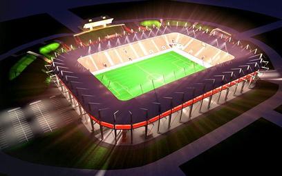 Wizualizacja stadionu w Lubinie. Obiekt należy do najnowocześniejszych w ekstraklasie
