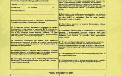 W umowie warszawskiej firmy z alei Witosa nie ma numerów licencji i polisy ubezpieczeniowej pośredni