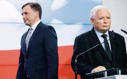Zbigniew Ziobro i Jarosław Kaczyński mają odmienne zdanie na wiele tematów wewnątrz rządu