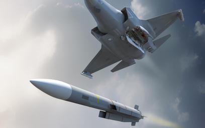 Wizja zrzutu pocisku kierowanego MBDA Meteor z F-35B. Rys./MBDA.